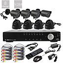 ウルトラ8CH D1リアルタイムH.264 CCTV DVRキット(8本420TVLナイトビジョンのCMOSカメラ、屋外および屋内)