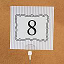 Lepenkový papír kartičky s číslem stolu 10 Umělá taška