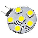 G4 1W 6x5050SMD 70-75LM 6000-6500K Přirozené bílé světlo LED bodová žárovka (12V)