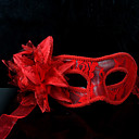 Maska cosplay Festival/Svátek Halloweenské kostýmy Červená / Bílá / Černá Jednobarevné / Krajka Maska Halloween / Karneval / Nový rok