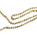 100pcs Zlatni Umjetni dijamanti Nail Dekoracije 0.6cm
