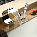 Sprinkle® slavine za kadu  ,  Suvremena  with  Krom Single Handle Three Holes  ,  svojstvo  for Waterfall / Slavine s tri otvora