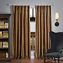 Dvije zavjese Prozor Liječenje Neoclassical , Jednobojni Polyester Materijal Blackout Zavjese Zavjese Početna Dekoracija For Prozor