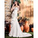 Lanting Bride® Sirena kroj Sitna / Veći brojevi Vjenčanica - Klasično i svevremensko / Glamurozno i izražajno Srednji šlep Srcoliki izrez
