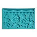 Fondant & Gum pasta Fabric Návrhy Silikonová forma zdobení dortu Rose a korálků