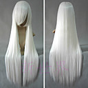 Cosplay Wigs InuYasha Inu Yasha Bijela Long / Ravan kroj Anime Cosplay Wigs 80 CM Otporna na toplinu vlakna Male