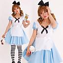 Cosplay Kostýmy Kostým na Večírek Princeznovské Pohádkové Festival/Svátek Halloweenské kostýmy Modrá Patchwork Šaty Vlasové ozdoby Zástěra
