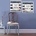 Riječi i citati Uokvireno platno / Uokvireni set Wall Art,PVC Bijela Stalak nije uključen s Frame Wall Art