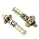 Merdia 2 ks H1 bílá 13 5050 SMD LED Foglight Head Light Bulb Lamp-LEDD001B13H1S2