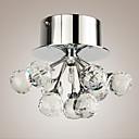 sl® moderní / krystal / mini style / chrom kov flush montáž