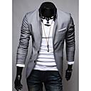 LEEBIN Muška Patch Pocket dizajn Personaliy Solid Color Blazer izlizati (Gray)