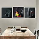 3個セットキャンバスプリントアート静物画陶器