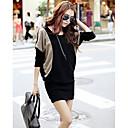 Ženske kontrast boja cape rukava mini haljinu