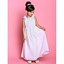 ランティングの花嫁®ラインアンクル丈フラワーガールのドレス - シフォンノースリーブボウ(S)/花(複数可)ですくいます