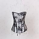sexy spodní prádlo polyester-bavlněné plast vykostěné šněrovací korzet korzet a g-string set shaper