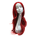 Sintetička Red Srednja Long Čipka Front Wig