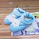 Ženske cipele - Papuče - Ležerne prilike - Eko koža - Ravna potpetica - Udobne cipele - Plava / Ružičasta