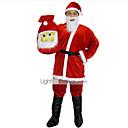 Cosplay Kostýmy Vánoční santa obleky Festival/Svátek Halloweenské kostýmy Vrchní deska / Kalhoty / Pásek / Klobouk Vánoce Pánské Samet
