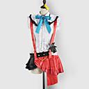 Inspirirana Ljubav uživo Kotori Minami Video igra Cosplay Kostimi Cosplay Suits / School Uniforms Kolaž Bijela / Crvena Bez rukavaTop /