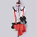 Inspirirana Ljubav uživo Nozomi Tōjō Video igra Cosplay Kostimi Cosplay Suits / School Uniforms Kolaž Bijela / Crvena Bez rukavaTop /