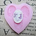 Tri Rupe Slika obliku srca Fondant plijesni Sugar alatki smole cvijeće plijesni kalupe za kolače