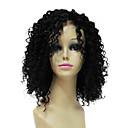 Šarmantan 100% Human Remy Hair Short Crna kovrčave kose Čipka Front perika