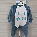 着ぐるみ パジャマ フクロウ レオタード/着ぐるみ イベント/ホリデー 動物パジャマ Halloween グレー パッチワーク フランネル きぐるみ のために 子供用 ハロウィーン