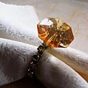 ダイヤモンドデザインナプキンリング、アクリル