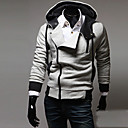 LangXin Moda Kos Zipper Rivet Ukrasna Hoodie (Gray)