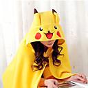 Kigurumi Pyžama Pika Pika Přehoz Festival/Svátek Animal Sleepwear Halloween Žlutá Jednobarevné Coral Fleece Kigurumi Pro Unisex Halloween