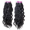 3ks 5a 20inch přírodní vlna brazilský vlasy tkát stupeň panna vlasy přírodní barva 1b