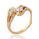 Xinxin Dámské 18K Gold Zirkon prsten J1133