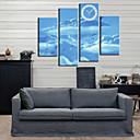 Modern Style Blue Sky zid sat u platnu 4pcs
