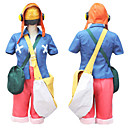 Inspirirana One Piece Usopp Anime Cosplay nošnje Cosplay Suits Color block Plava / Narančasta / Roza Kaput / Kratke hlače / Kratki / Bag