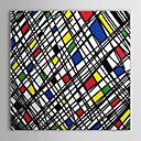 rastegnut platno umjetnost pop art neki slučajan geometrijski oblici spreman za objesiti
