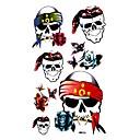 5 ks Skull Vodotěsné Dočasné tetování (10,5 cm * 20,5 cm) HM006