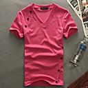 W.Rain kratkih rukava Slim Moda T-Shirt (bijela, crvena, siva, crna)