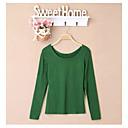 Lizi Ženska Classic Okrugli Solid Color Korejski Long Sleeve T Shirt (zaslon u boji)