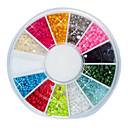 144PCS 12-Color 2mm Mali Nail Ball perle Nail Art Decotations