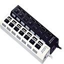 7-Port vysokorychlostní USB 2.0 hub nezávislý přepínač