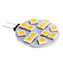 G4 6W 12x5050SMD 2800-3500K Warm White Light LED žarulja Spot (DC 12)