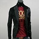 Uyuk Muška Zanimanje crna Tailor Collar Buckle Long Sleeve Coat