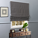 Suvremena Grey Solid poliester Blackout Roman Shade