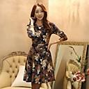 ročník květinovým potiskem přiléhavé šaty Leto dámské