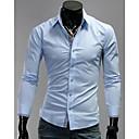 U2M2 Moda Light Blue Rever Vrat Buckle Shirt