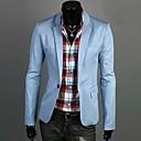 U2M2 Muška Zanimanje Light Blue Tailor Collar Jedan Buckle Dlaka