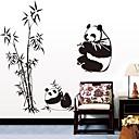doudouwo®動物パンダと竹の壁のステッカー