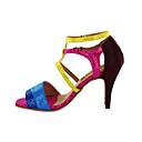 Može se prilagoditi - Ženske - Plesne cipele - Latin / Balska sala - Vještačka koža - Prilagođeno Heel - Šarena