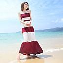 Lashabeney Ženska Jednostavno Splice kontrast boja Stripes duga haljina (zaslon u boji)