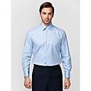 světle modrá 100% bavlna pevná košile